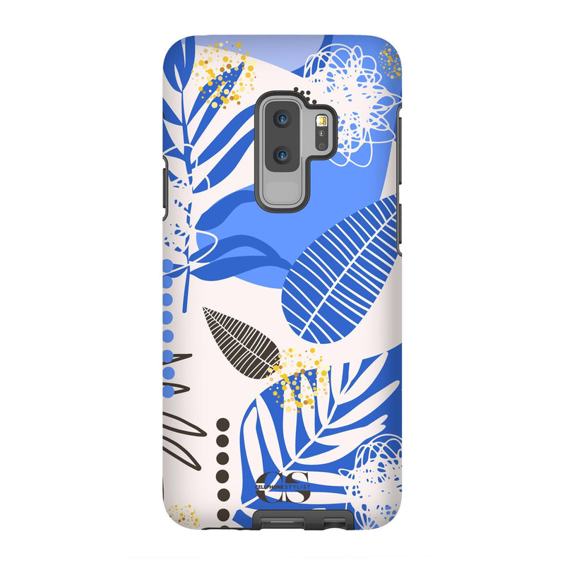 Leaf Me Alone - Blue (Galaxy) - Phone Case Galaxy S9 Plus Tough Gloss - Cellphone Stylist