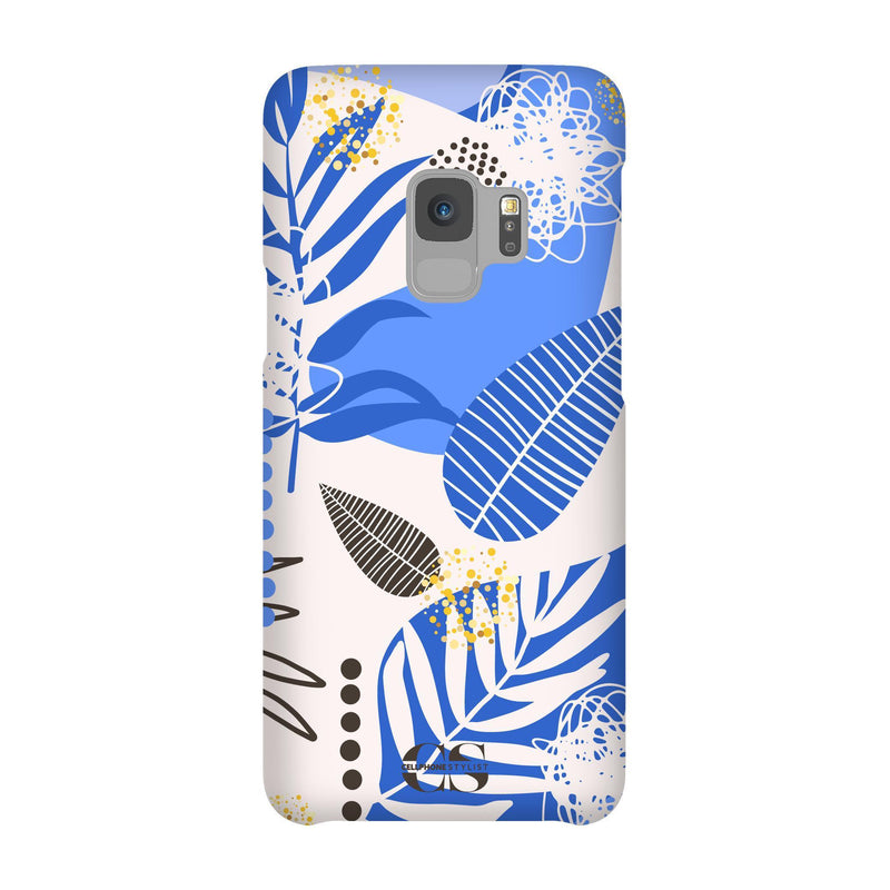 Leaf Me Alone - Blue (Galaxy) - Phone Case Galaxy S9 Snap Matte - Cellphone Stylist