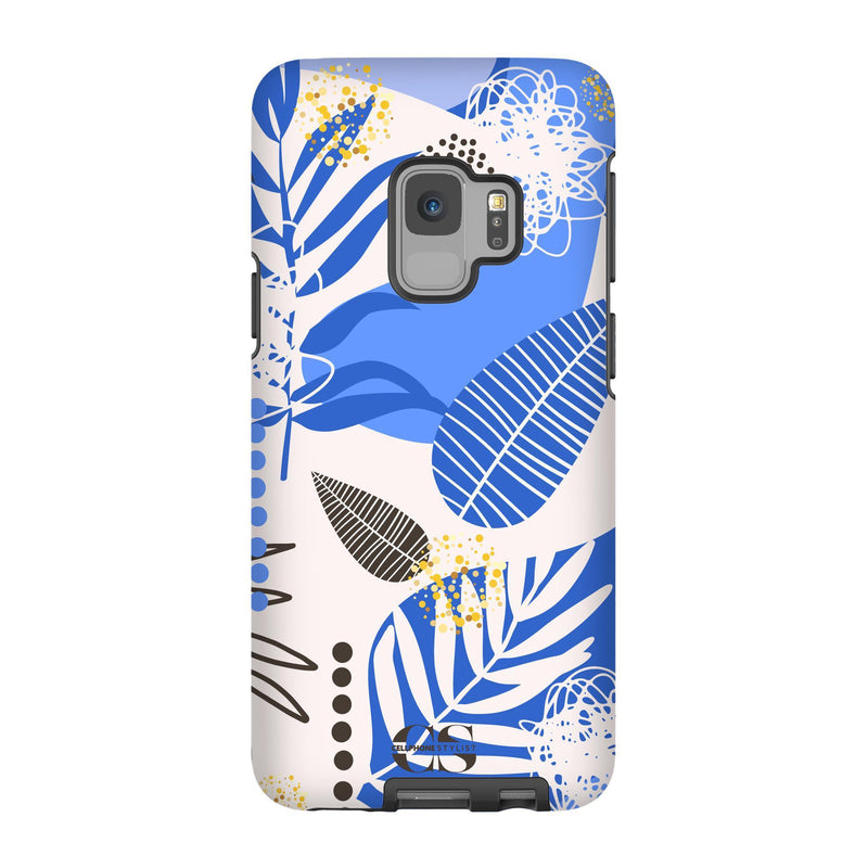 Leaf Me Alone - Blue (Galaxy) - Phone Case Galaxy S9 Tough Matte - Cellphone Stylist