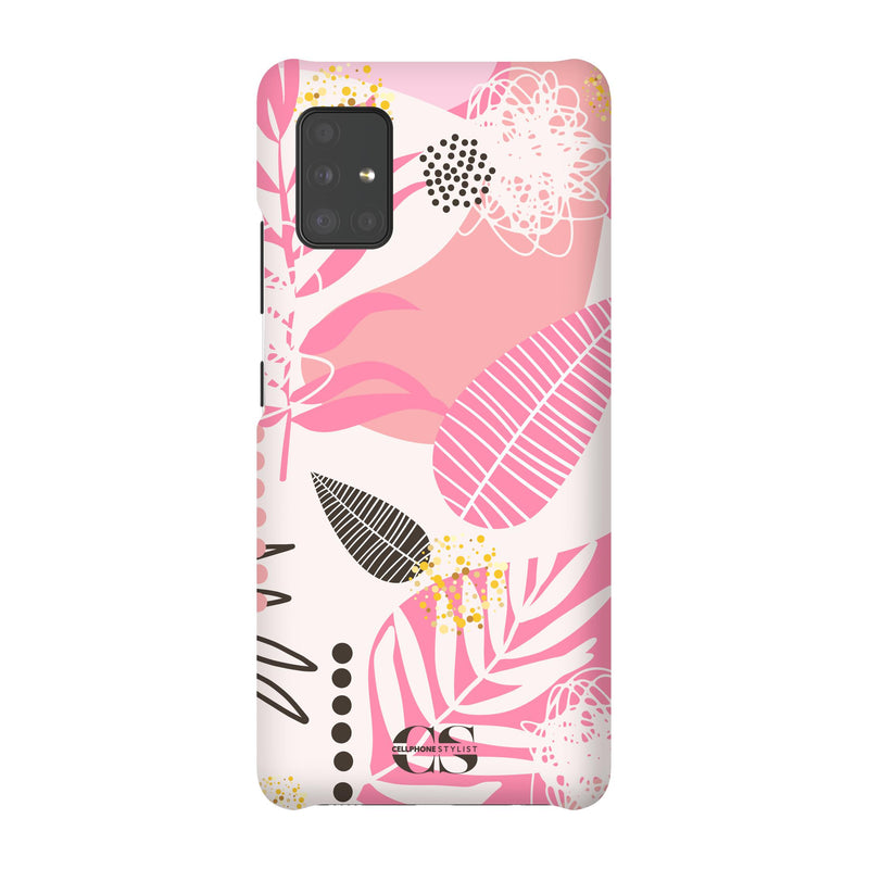 Leaf Me Alone - Pink (Galaxy) - Phone Case Galaxy A51 5G Snap Matte - Cellphone Stylist