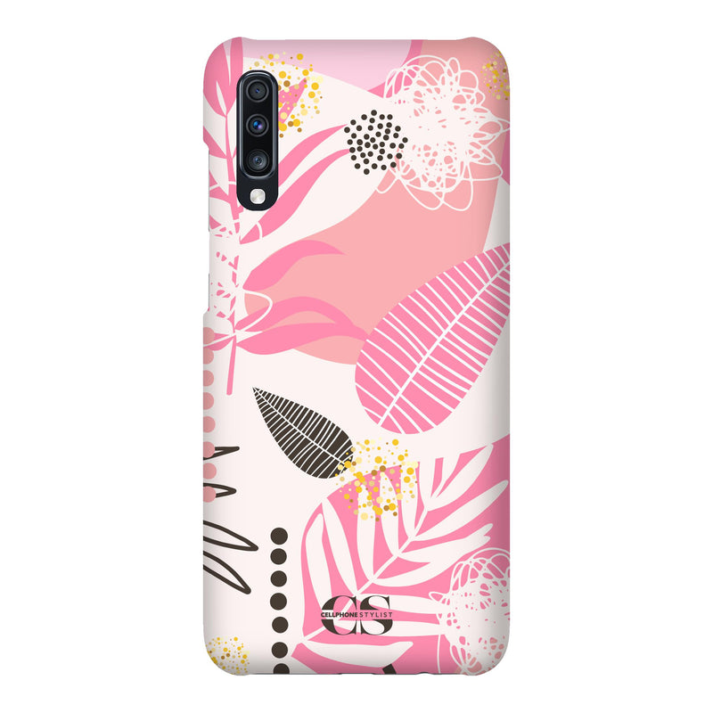 Leaf Me Alone - Pink (Galaxy) - Phone Case Galaxy A70 Snap Matte - Cellphone Stylist