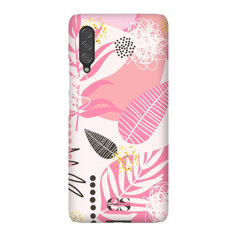 Leaf Me Alone - Pink (Galaxy) - Phone Case Galaxy A90 5G Snap Matte - Cellphone Stylist