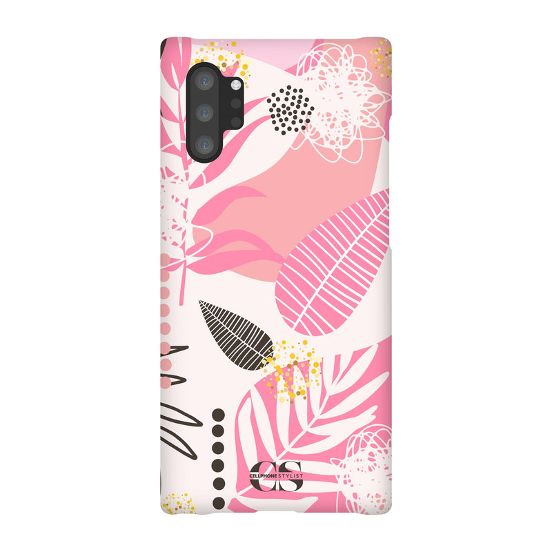 Leaf Me Alone - Pink (Galaxy) - Phone Case Galaxy Note 10 Plus Snap Gloss - Cellphone Stylist