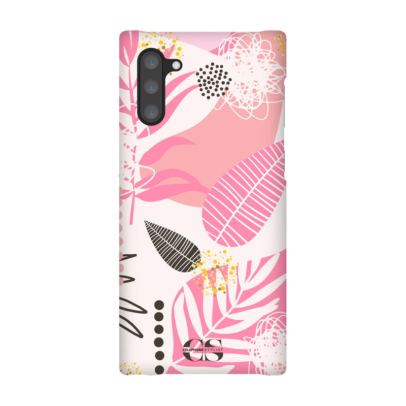 Leaf Me Alone - Pink (Galaxy) - Phone Case Galaxy Note 10 Snap Matte - Cellphone Stylist