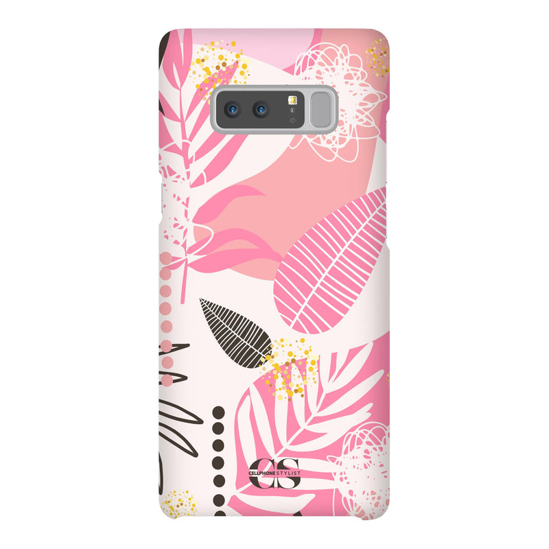 Leaf Me Alone - Pink (Galaxy) - Phone Case Galaxy Note 8 Snap Matte - Cellphone Stylist