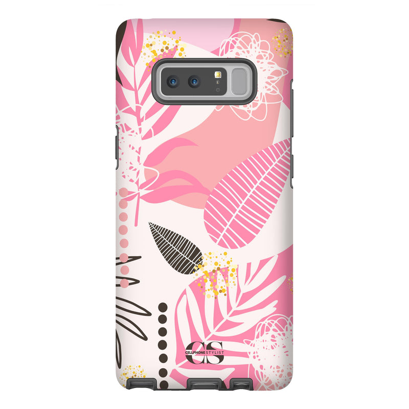 Leaf Me Alone - Pink (Galaxy) - Phone Case Galaxy Note 8 Tough Matte - Cellphone Stylist