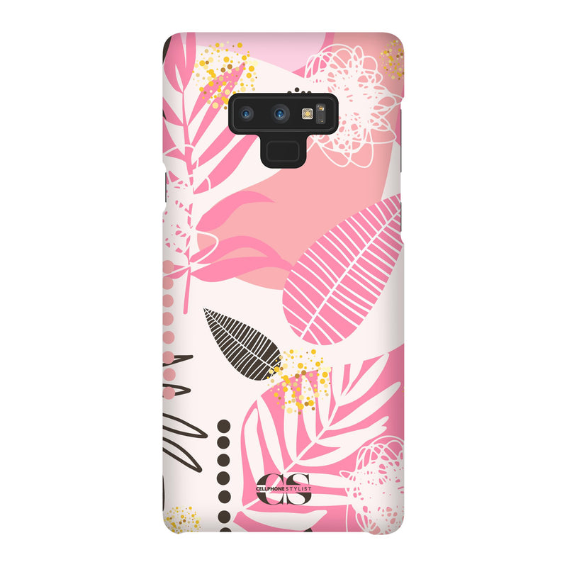 Leaf Me Alone - Pink (Galaxy) - Phone Case Galaxy Note 9 Snap Matte - Cellphone Stylist
