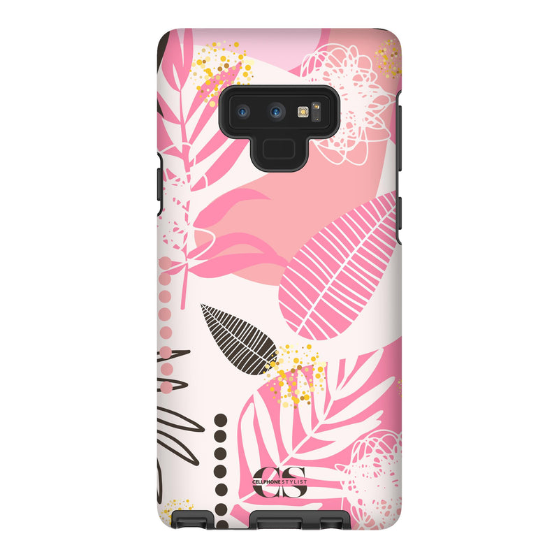 Leaf Me Alone - Pink (Galaxy) - Phone Case Galaxy Note 9 Tough Gloss - Cellphone Stylist