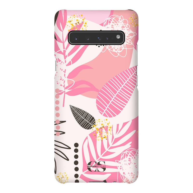 Leaf Me Alone - Pink (Galaxy) - Phone Case Galaxy S10 5G Snap Gloss - Cellphone Stylist