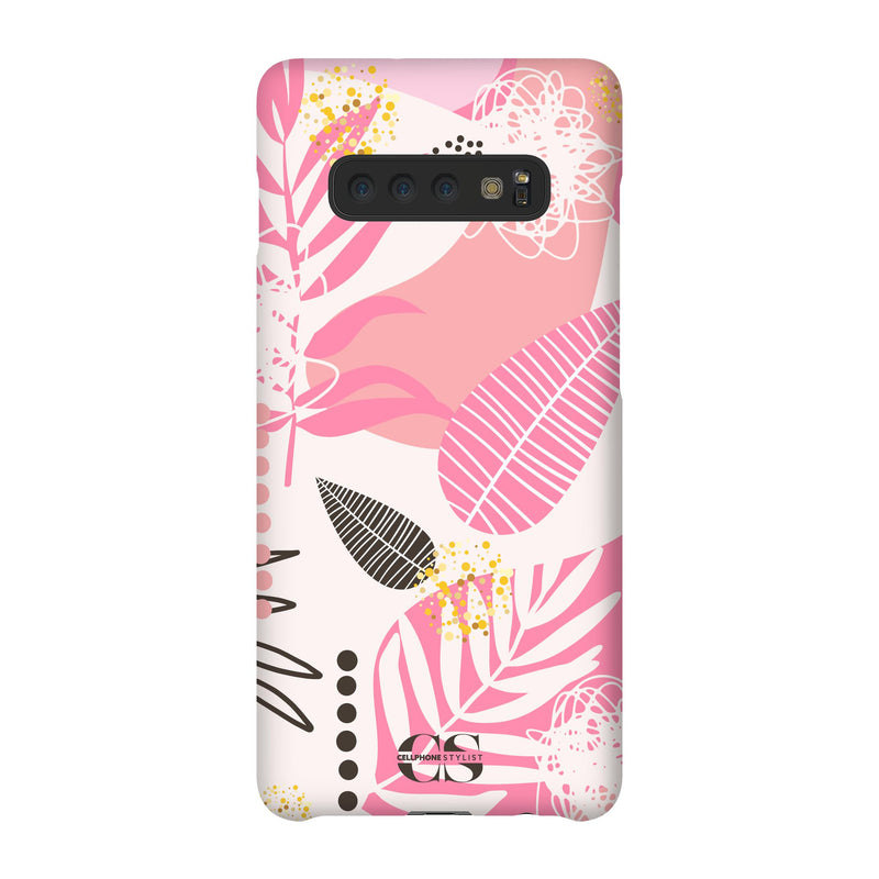 Leaf Me Alone - Pink (Galaxy) - Phone Case Galaxy S10 Plus Snap Matte - Cellphone Stylist