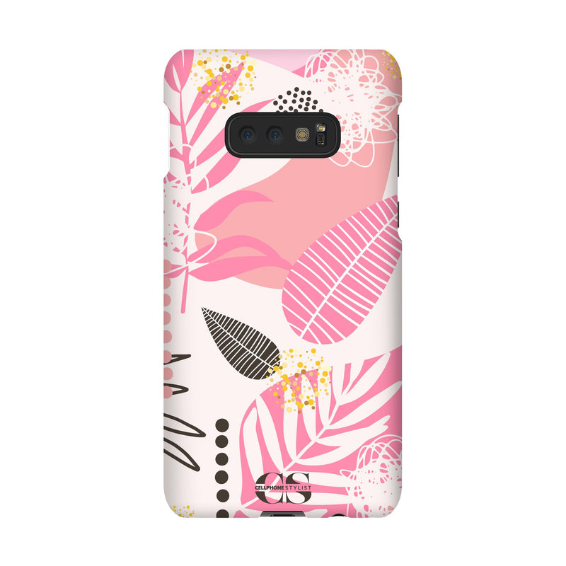 Leaf Me Alone - Pink (Galaxy) - Phone Case Galaxy S10E Snap Gloss - Cellphone Stylist