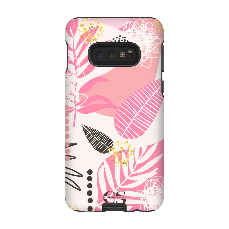 Leaf Me Alone - Pink (Galaxy) - Phone Case Galaxy S10E Tough Gloss - Cellphone Stylist