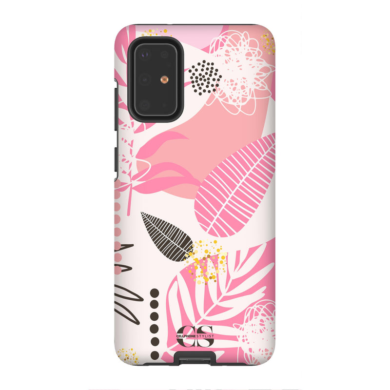 Leaf Me Alone - Pink (Galaxy) - Phone Case Galaxy S20 Plus Tough Matte - Cellphone Stylist