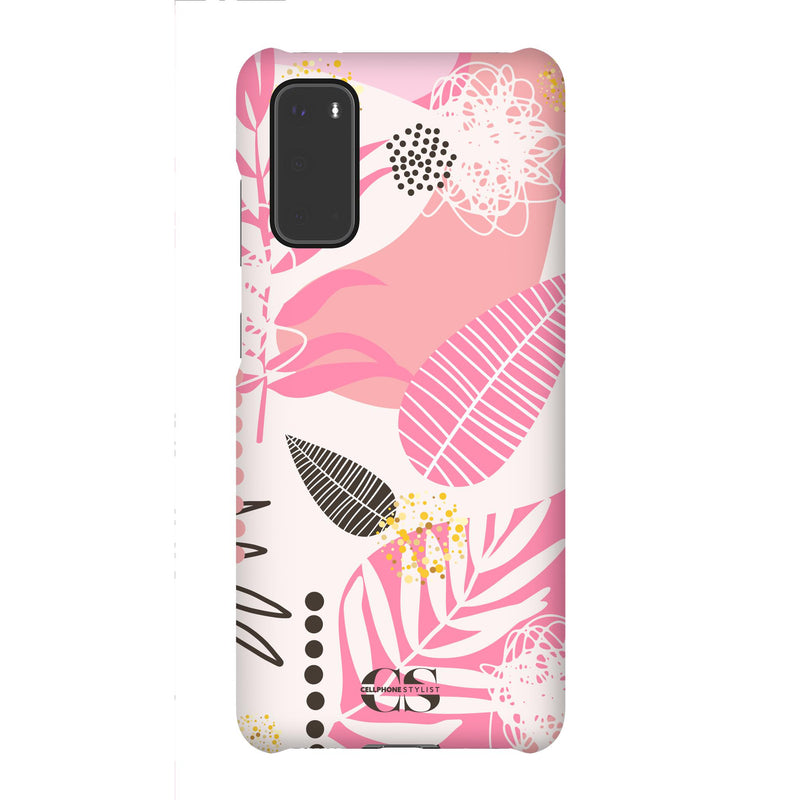 Leaf Me Alone - Pink (Galaxy) - Phone Case Galaxy S20 Snap Gloss - Cellphone Stylist
