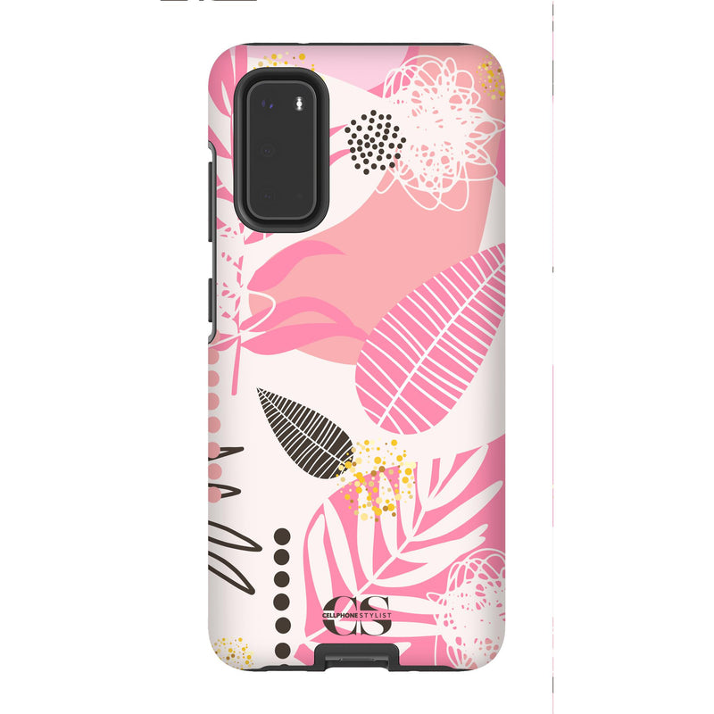 Leaf Me Alone - Pink (Galaxy) - Phone Case Galaxy S20 Tough Matte - Cellphone Stylist