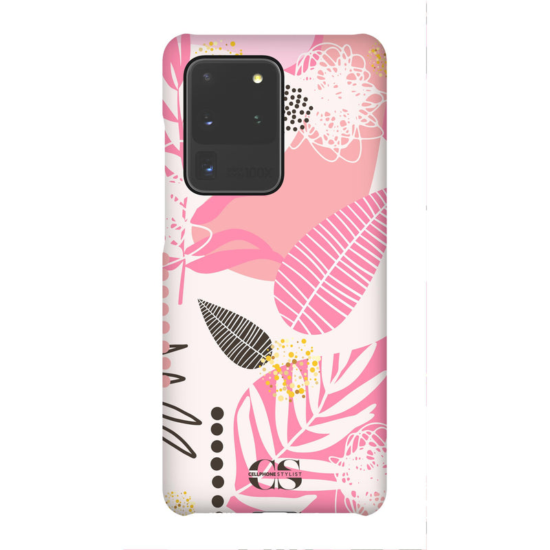 Leaf Me Alone - Pink (Galaxy) - Phone Case Galaxy S20 Ultra Snap Matte - Cellphone Stylist