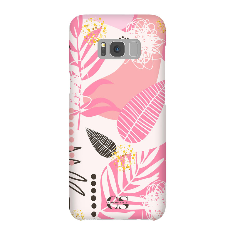 Leaf Me Alone - Pink (Galaxy) - Phone Case Galaxy S8 Plus Snap Matte - Cellphone Stylist