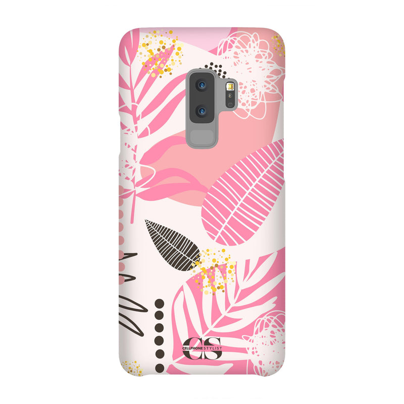 Leaf Me Alone - Pink (Galaxy) - Phone Case Galaxy S9 Plus Snap Matte - Cellphone Stylist