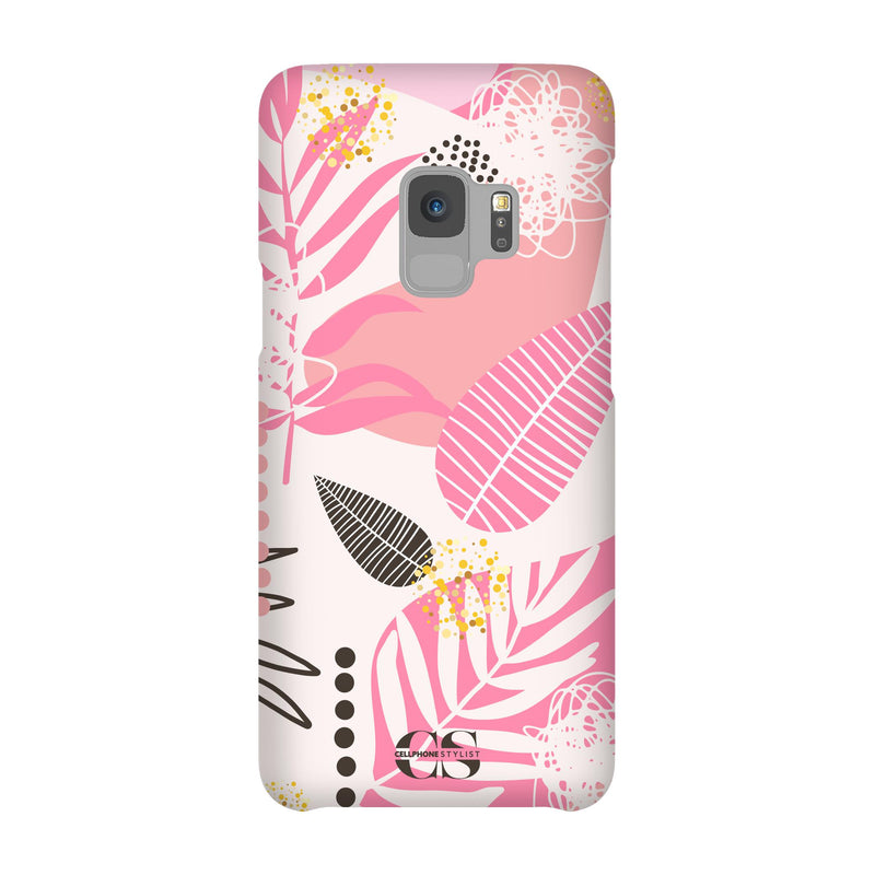 Leaf Me Alone - Pink (Galaxy) - Phone Case Galaxy S9 Snap Matte - Cellphone Stylist
