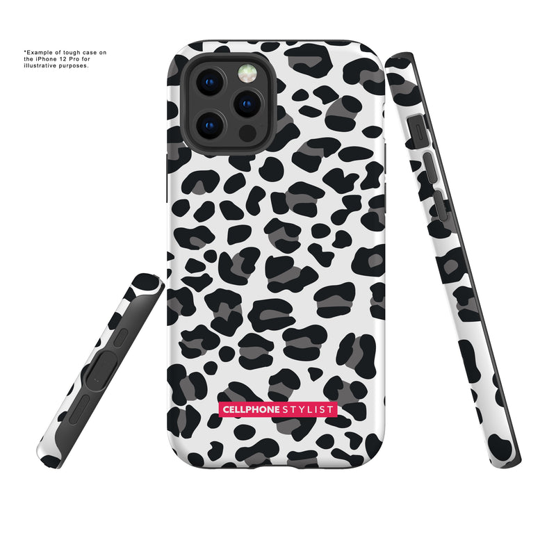 Leopard Print - Black/White (iPhone) - Phone Case - Cellphone Stylist