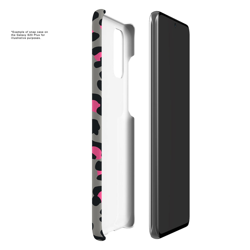 Leopard Print - Grey/Pink (Galaxy) - Phone Case - Cellphone Stylist