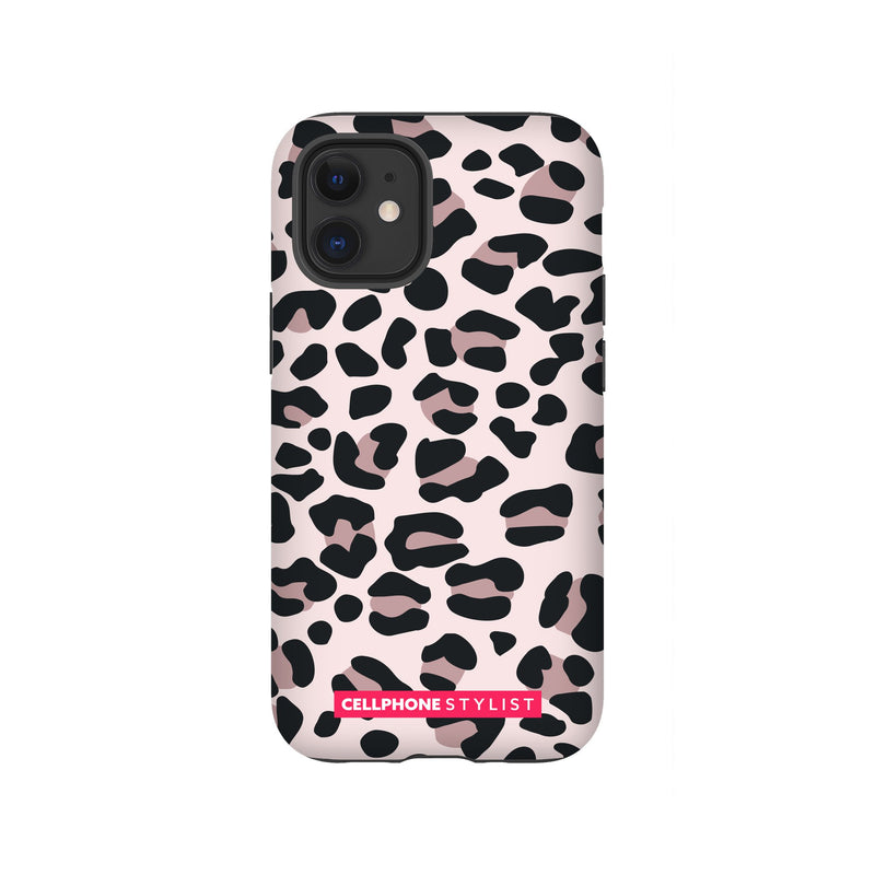 Leopard Print - Light Pink (iPhone) - Phone Case iPhone 12 Mini Tough Gloss - Cellphone Stylist