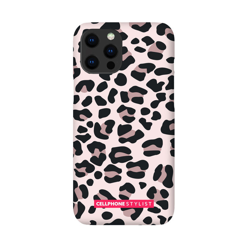 Leopard Print - Light Pink (iPhone) - Phone Case iPhone 12 Pro Max Snap Gloss - Cellphone Stylist