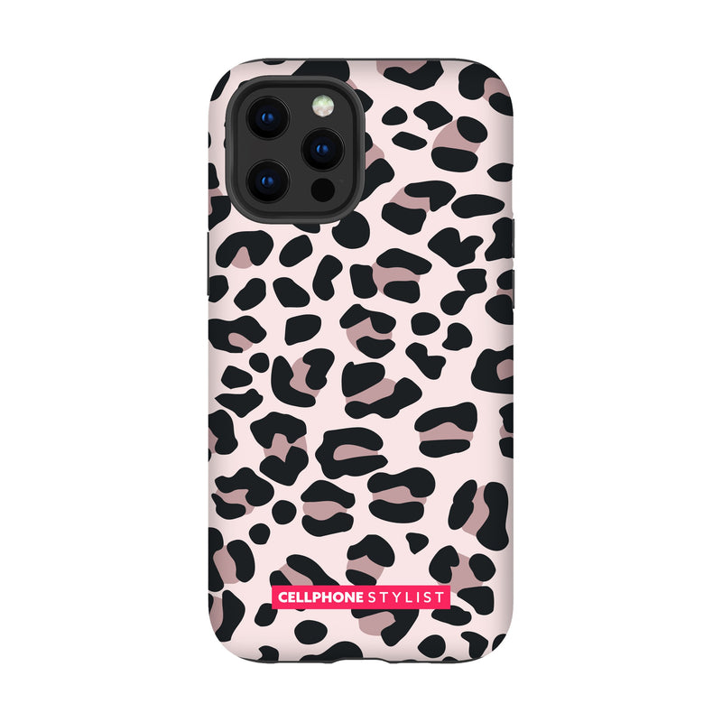 Leopard Print - Light Pink (iPhone) - Phone Case iPhone 12 Pro Max Tough Gloss - Cellphone Stylist