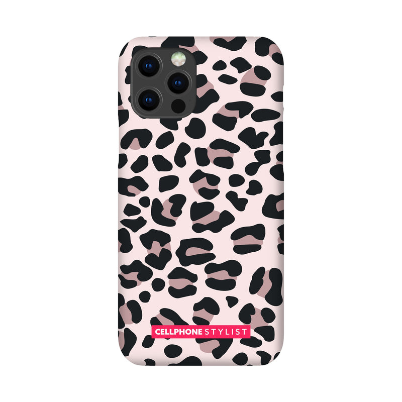 Leopard Print - Light Pink (iPhone) - Phone Case iPhone 12 Pro Snap Gloss - Cellphone Stylist