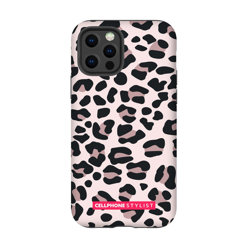 Leopard Print - Light Pink (iPhone) - Phone Case iPhone 12 Pro Tough Gloss - Cellphone Stylist