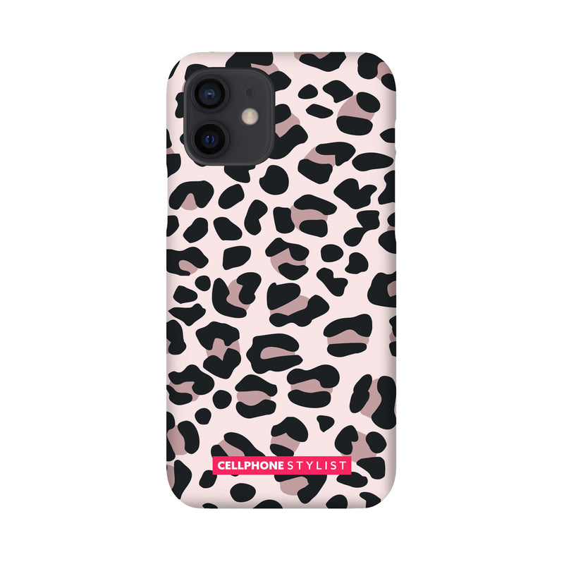 Leopard Print - Light Pink (iPhone) - Phone Case iPhone 12 Snap Gloss - Cellphone Stylist