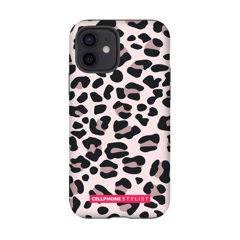 Leopard Print - Light Pink (iPhone) - Phone Case iPhone 12 Tough Gloss - Cellphone Stylist