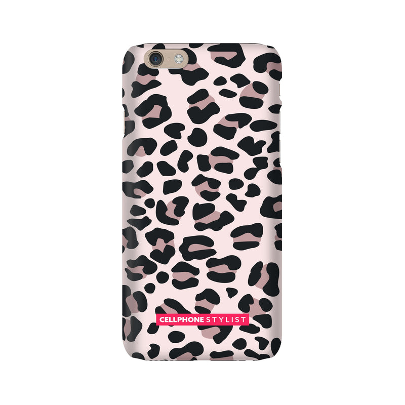 Leopard Print - Light Pink (iPhone) - Phone Case iPhone 6 Snap Gloss - Cellphone Stylist