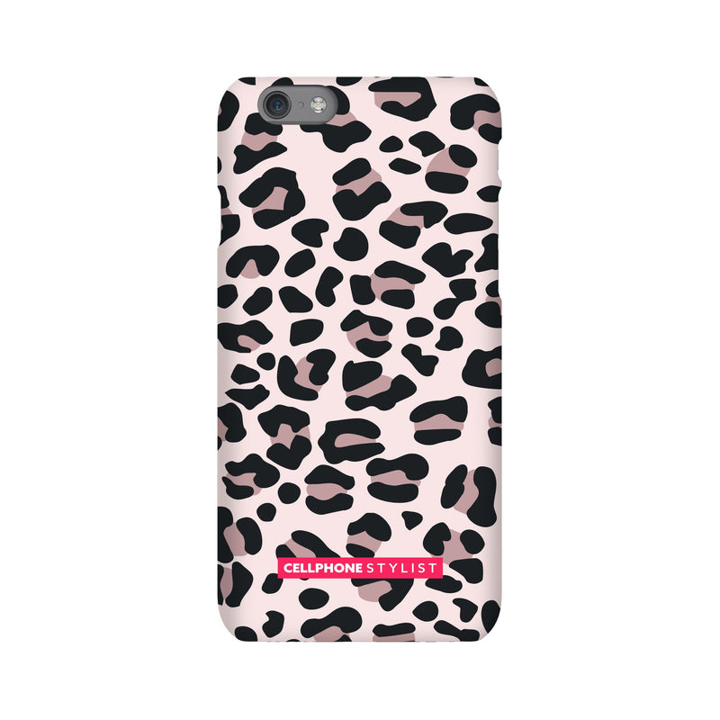 Leopard Print - Light Pink (iPhone) - Phone Case iPhone 6S Snap Gloss - Cellphone Stylist