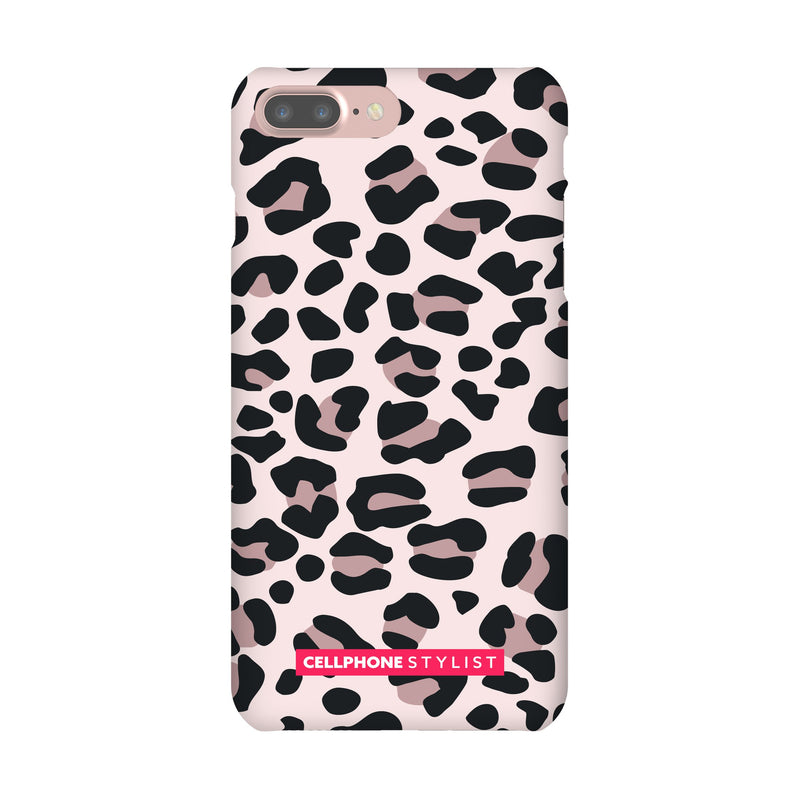 Leopard Print - Light Pink (iPhone) - Phone Case iPhone 7 Plus Snap Gloss - Cellphone Stylist