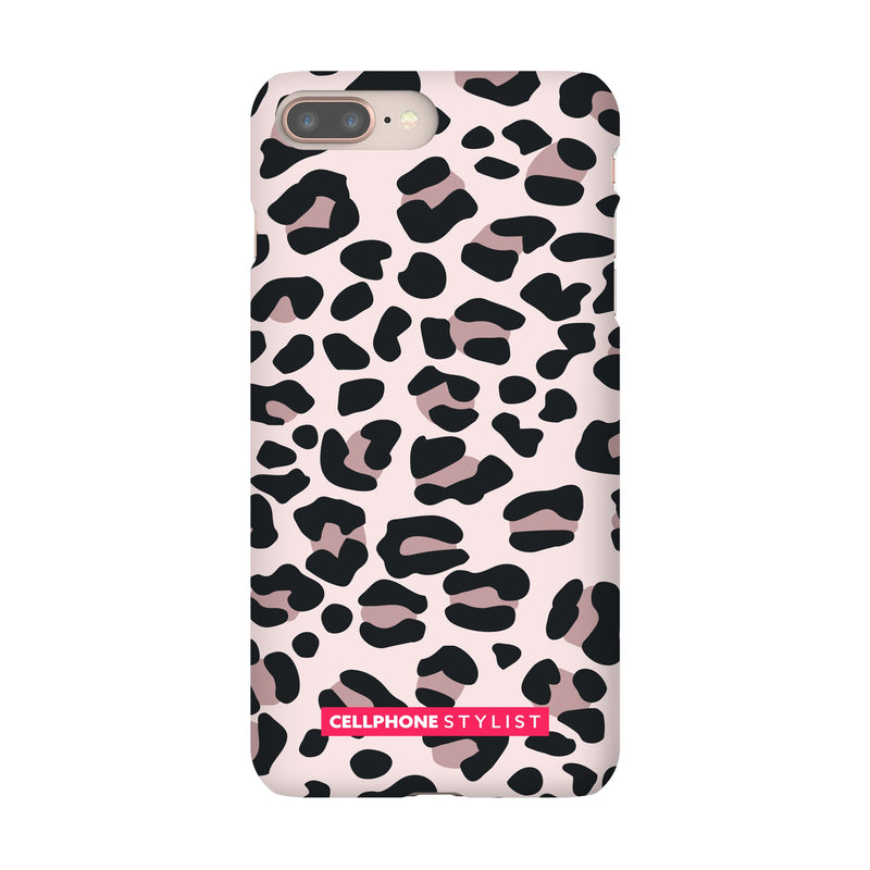 Leopard Print - Light Pink (iPhone) - Phone Case iPhone 8 Plus Snap Gloss - Cellphone Stylist