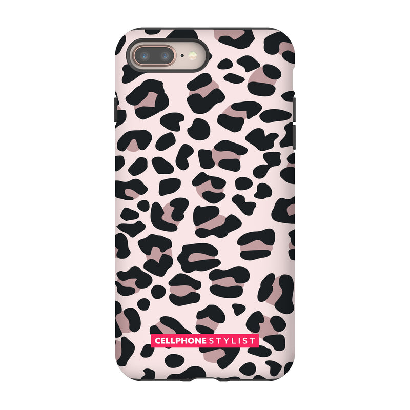 Leopard Print - Light Pink (iPhone) - Phone Case iPhone 8 Plus Tough Gloss - Cellphone Stylist