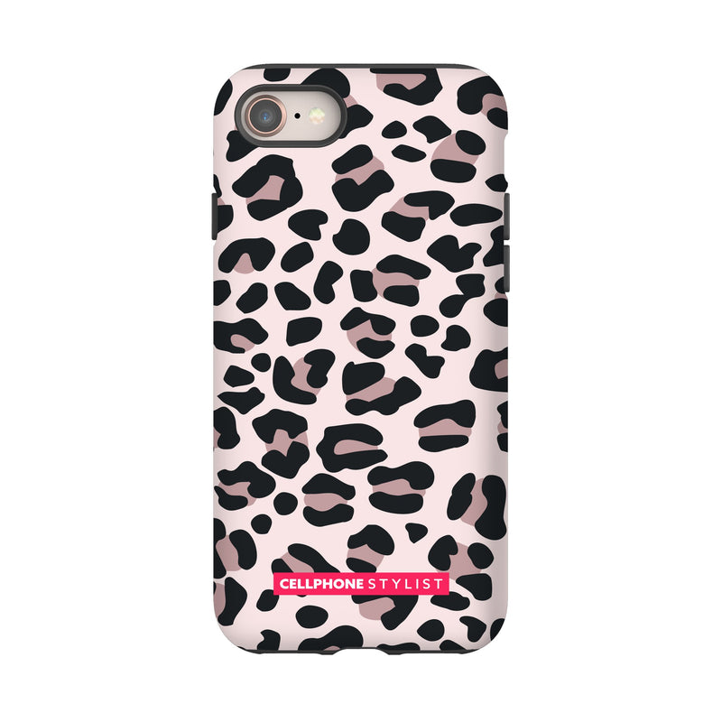 Leopard Print - Light Pink (iPhone) - Phone Case iPhone 8 Tough Gloss - Cellphone Stylist
