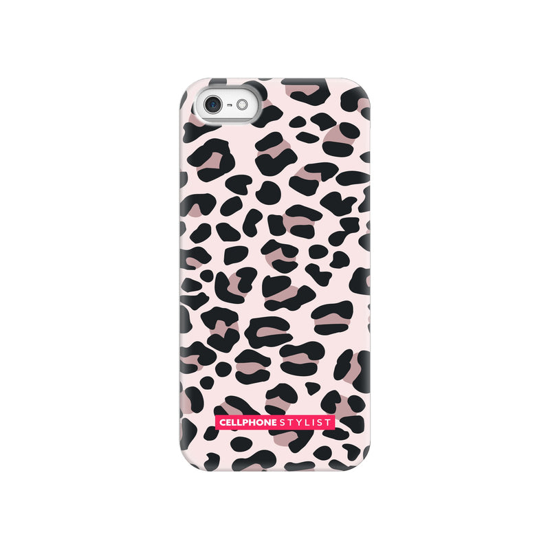 Leopard Print - Light Pink (iPhone) - Phone Case iPhone SE Snap Gloss - Cellphone Stylist