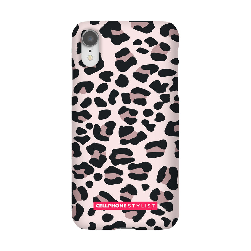 Leopard Print - Light Pink (iPhone) - Phone Case iPhone XR Snap Gloss - Cellphone Stylist