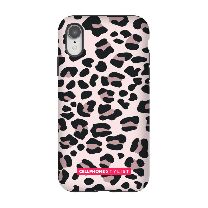 Leopard Print - Light Pink (iPhone) - Phone Case iPhone XR Tough Gloss - Cellphone Stylist