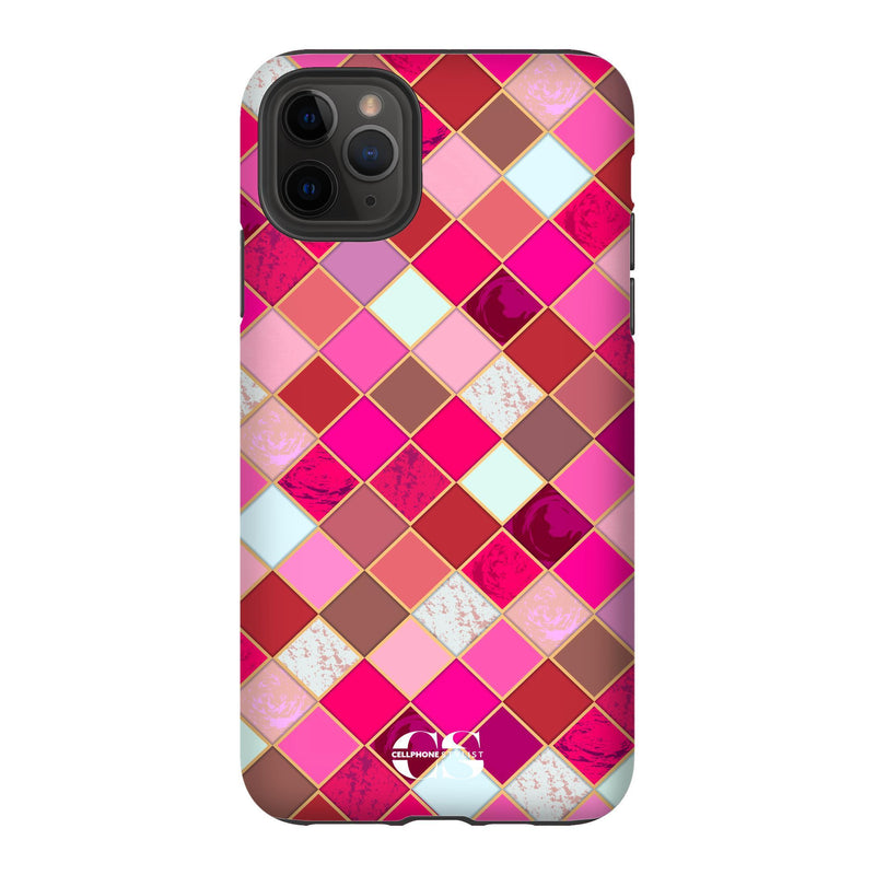 Lipstick Mosaic (iPhone) - Phone Case iPhone 11 Pro Max Tough Gloss - Cellphone Stylist