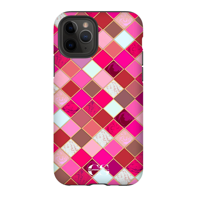 Lipstick Mosaic (iPhone) - Phone Case iPhone 11 Pro Tough Gloss - Cellphone Stylist