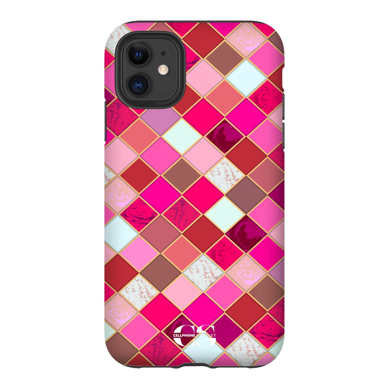 Lipstick Mosaic (iPhone) - Phone Case iPhone 11 Tough Gloss - Cellphone Stylist