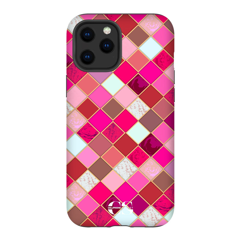 Lipstick Mosaic (iPhone) - Phone Case iPhone 12 Pro Max Tough Gloss - Cellphone Stylist
