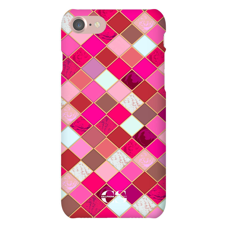 Lipstick Mosaic (iPhone) - Phone Case iPhone 7 Snap Gloss - Cellphone Stylist