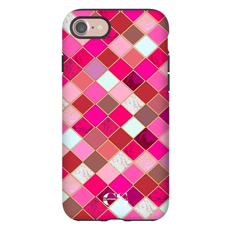 Lipstick Mosaic (iPhone) - Phone Case iPhone 7 Tough Gloss - Cellphone Stylist