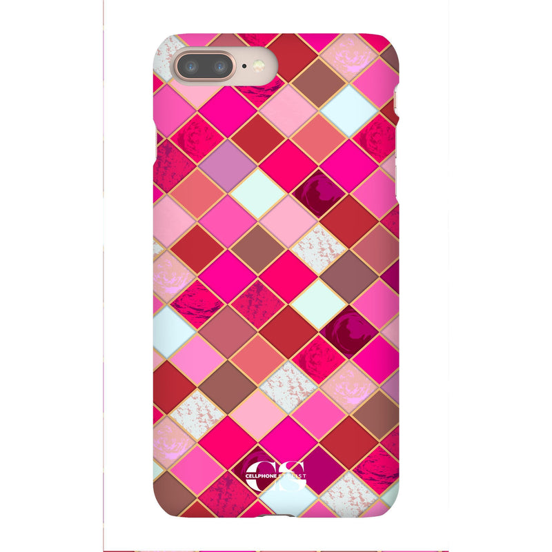 Lipstick Mosaic (iPhone) - Phone Case iPhone 8 Plus Snap Gloss - Cellphone Stylist