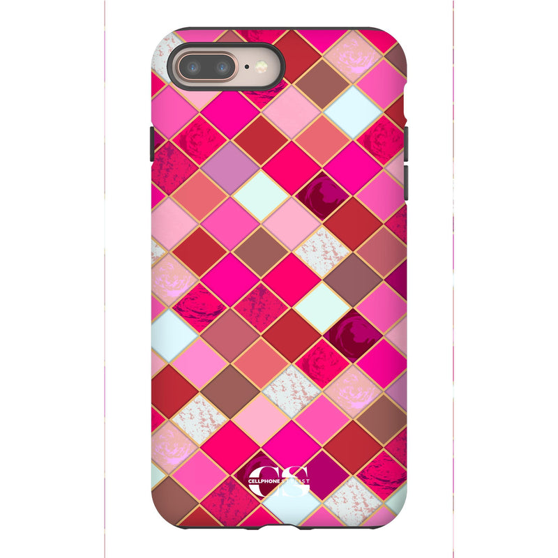 Lipstick Mosaic (iPhone) - Phone Case iPhone 8 Plus Tough Gloss - Cellphone Stylist