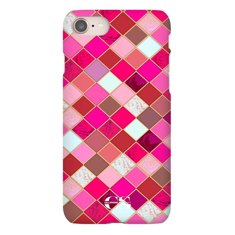 Lipstick Mosaic (iPhone) - Phone Case iPhone 8 Snap Gloss - Cellphone Stylist